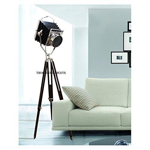 Thor Instrumente. CO Vintage alte Kamera Film Searchlight braun Stativ Ständer Hollywood Spot Licht Lampe schwarz