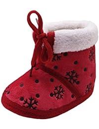 Botas de bebé, Amlaiworld Bebés recién nacidos Navidad suave suela botas prewalker zapatos calientes 0-18 Mes