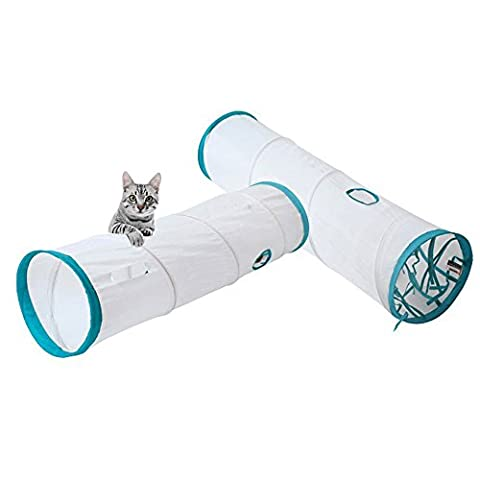 S-Lifeeling Cat Tunnel ,Collapsible Cat Tube for Kitty Exercise Entertainment and Run ,Durable and Comfortable Hideaway, Pet Fun Play Toy for Rabbits, Kittens, Small Dogs.Size