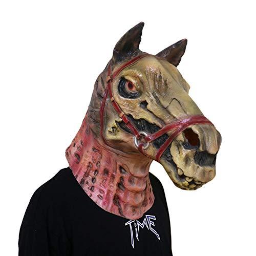 Gzhengjie Halloween Maske Latexmaske Zombie Teufel Ghost Geist Faultiermaske Mit Haar Horror Gruselig Party Requisiten Cosplay Kostüm Für Mottoparty Nachtclub