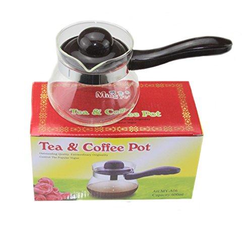 Wärme hitzebeständig Glas Tee Kaffeekanne mit Griff 600ml Glas Milch Topf Herd bereit...