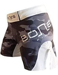 """Bones Fight"": Fight shorts para mujeres, women´s MMA short, MMA short para mujeres, BJJ, Women´s grappling short, women´s free fight short (M)"