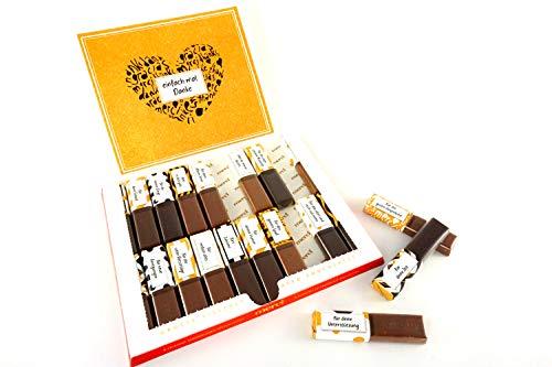 SURPRISA Aufkleber Set für Merci Schokolade - Dankeschön an eine Person - kreative Geschenke für Freundin, Freund, Mutter, Vater - kleine aber persönliche Geschenkideen - kleines Geschenk