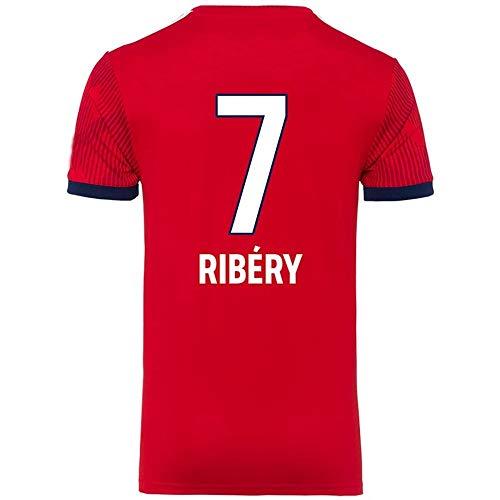 LDFN Franck Ribéry # 7 Männer Fußball Jersey - Short Sleeve Sports Jersey T-Shirt Fan-Hemd (Color : Red(A), Size : L)