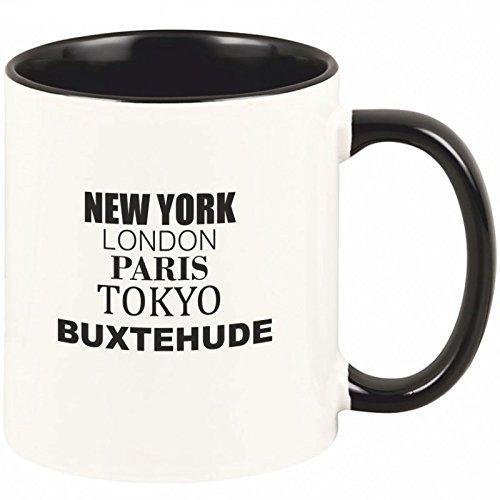 Geschenkartikel Tasse Buxtehude New York, London, Paris, Tokyo Kaffeetasse Becher Deko YD 3-001-993