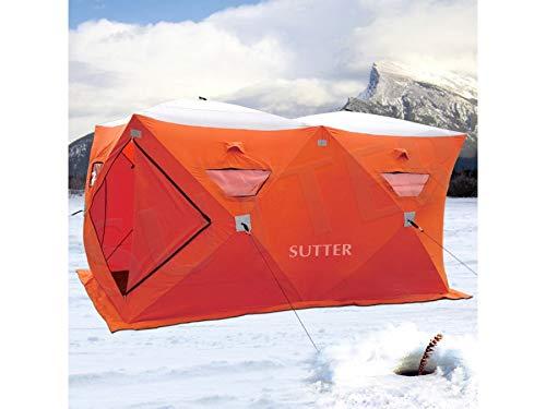 SUTTER Extra großes Quick-Up Zelt 300x150cm (Eiszelt) / für Eisangeln & Eisfischen u.a. / Schnellaufbauzelt Jagdzelt Campingzelt Quicktent/Optimal geschütz