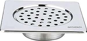 Bathenza Square SS304, cockroach regular low height - Floor Drain / Floor trap