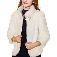 LaoZan Donna Inverno Faux Pelliccia Cardigan Cappotto
