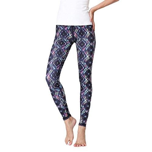 Anguang Femmes Imprimé Yoga Fitness Gym Pilates Longue Pantalon Casual Jogging Legging Style9