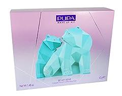 Idea Regalo - Pupa Trousse Be My Bear Cofanetto Make Up a Forma di Orso, Big, Azzurro e Turchese
