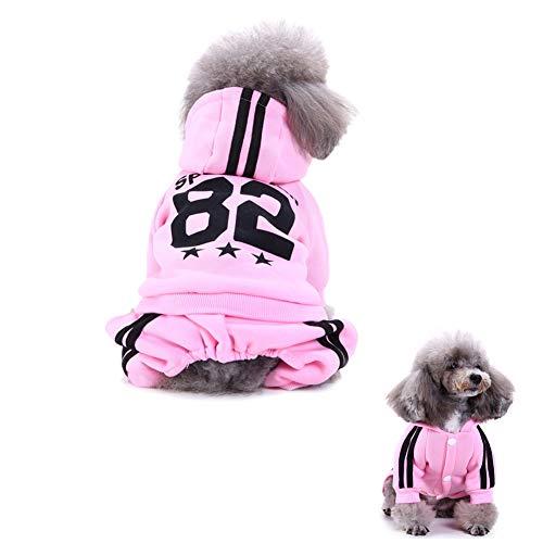 1x Cxssxling Haustier Hund KleidungSport-Kapuzenpullis Hundestrickjacke Hunden be kleidung Haustier Hund Pullover Hundemantel Hundepulli für Kleine Hunde