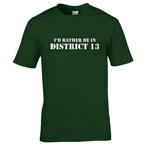 Naughtees Strampler-I 'd Rather Be In District 13T-Shirt., für Tage Sie sie einfach nicht sein wollen, wo Sie zu. Grün - Waldgrün