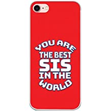 YuBingo Soft Silicone Designer Printed Mobile Back Case Cover for Apple iPhone 7 | Best Sister in The World | UV Printed | Waterproof | Shockproof | Slim | Light