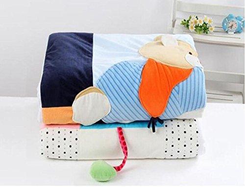 Woolen Decke Der Babyschlafsackbaby Neugeborene Wrap Vier Jahreszeiten Baumwollflusen-Babysteppdecke,Blue-43.3*51.2in