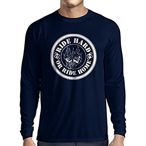 N4688L Camiseta de manga larga Ride Hard! Biker clothing