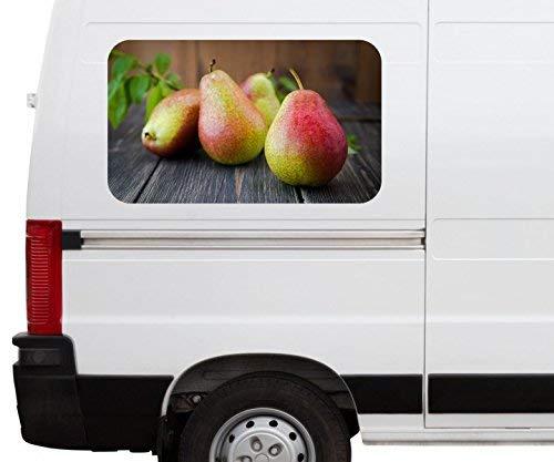 Obst Birnen lecker Küche Frucht Car Wohnmobil Auto tuning Digital Druck Fenster Sticker LKW Bild Aufkleber 21B151, Größe 3D sticker:ca. 120cmx73cm ()