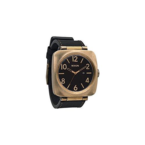 nixon-volta-watch-one-size-antique-gold-black