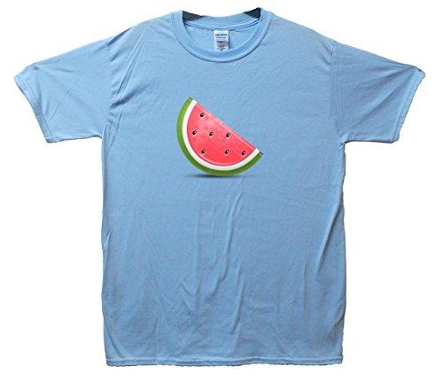 Watermelon Emoji T-Shirt Hellblau
