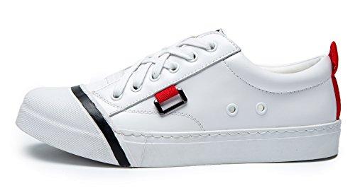 uBeauty - Chaussures de Sport Femme - Chaussures Plates - Espadrilles en cuir Blanc