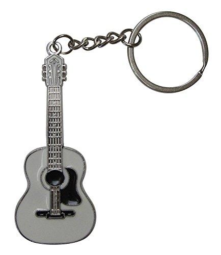 Llavero Acero Plateado Estilo Guitarra acùstica