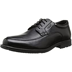Rockport Essential Detail Waterproof Apron Toe - Zapatos con cordones de cuero hombre, color negro