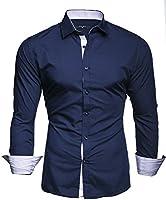Kayhan Homme Chemise Slim Fit Repassage Facile, Coton, Manches Longues Coupe Parfaite, Produit de qualité Modell - Twoface