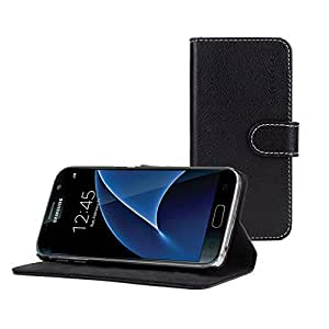 Snugg™ Galaxy S6 Edge + / Plus Case - Leather Flip Case with Lifetime Guarantee (Black) for Samsung Galaxy S6 Edge + / Plus