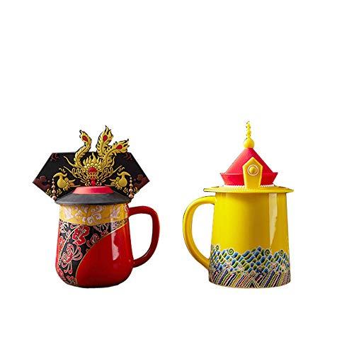 JJLEzlAM Tazas De Desayuno Tazas De Té Dragón Y Phoenix Cup Taza De Estilo Chino Emperador Queen Cup Pareja Matrimonio Regalos Taza De Beber Caja De Regalo