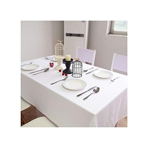 Cheryl Norri Blanca de algodón Mantel de Lino 150Cmx500Cm Rectangular Cubierta de Tabla Manteles al por Mayor para la Boda del Partido de Eventos decoración del Hotel, Blanco, 60x90cm