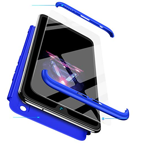 BESTCASESKIN Funda Xiaomi Mi MAX 2, Carcasa Móvil de Protección de 360° 3 en 1 Desmontable con HD Protector de Pantalla Carcasa Caso Case Cover para Xiaomi Mi MAX 2 (Azul)