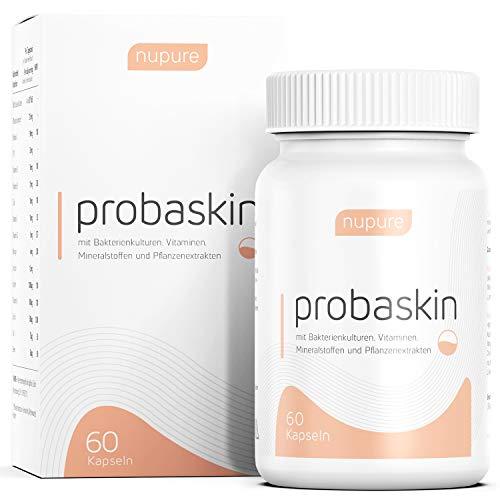 Nupure probaskin - INNOVATIVES 2 Kapsel-System - gesunde Haut mit 6 speziellen Bakterienkulturen PLUS Biotin, Zink und Selen