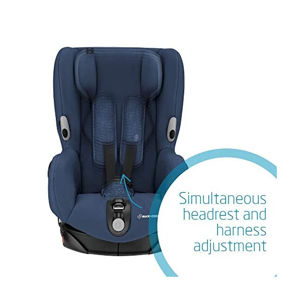 Maxi-Cosi Axiss Toddler Car Seat Group 1, Swivel Car Seat, 9 Months-4 Years, Nomad Blue, 9-18 kg Maxi-Cosi Toddler car seat, suitable from 9 months to 4 years (9 - 18 kg) Swivels 90 degree degrees allows for front-on access to get your toddler in and out of the car more easily Maxi-Cosi Axiss car seat has 8 comfortable recline positions 5