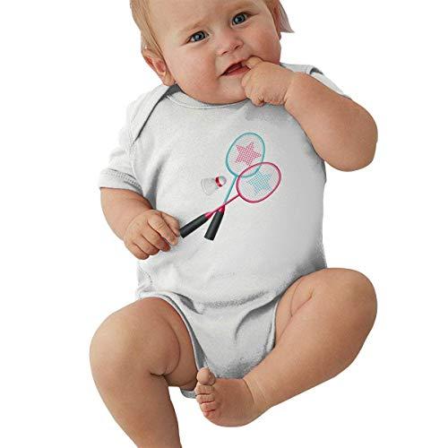Generic Baby Body Badminton und Badmintonschläger Kleinkind Kleinkind Klettern Kurzarm-Strampler Jumpsuit 6M