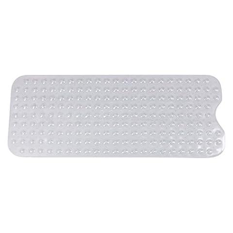 Finer Shop Extra Long Vinyl Non-Slip Safety Suction Cup Bath Shower Mat Bathroom Bathtub Mat Bath Decoration 40*100cm(15.75*39.37 inch) -