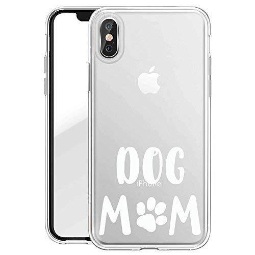 Finoo TPU Handyhülle für Dein iPhone X Made In Germany Hülle mit Motiv und Optimalen Schutz Silikon Tasche Case Cover Schutzhülle für Dein iPhone X-Dog Mom Weiß
