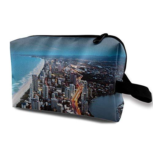 Women's Developed Coastline Travel Hanging Toiletry Bag Portable Travel Kit Shaving Bathroom Storage Bag Waterproof Cosmetic Organize -