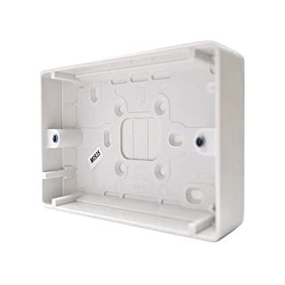 Bulk Hardware BH02612 Moulded Surface Pattress Box 2-Gang Double, 25mm (1 inch) Depth - White