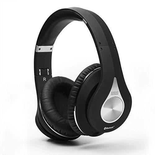August EP640 Cuffie Stereo Bluetooth V4.0 NFC con microfono integrato, 3,5 mm ingresso, Nero