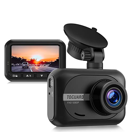 TOGUARD Mini Dash Cam Car Driving Recorder 1080P Full HD Car Camera, 2.45 inch 170° Wide Angle Dashcams for Cars with WDR 24H Parking Monitor, G-sensor and Loop Recording