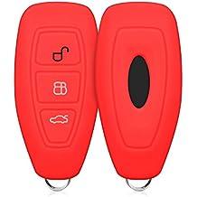 kwmobile Funda de Silicona para Llave Keyless Go de 3 Botones para Coche Ford - Carcasa