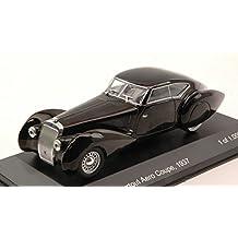 DELAGE D8 120-S PORTOUT AERO COUPE' 1937 BLACK 1:43 - Whitebox - Auto d'Epoca - Die Cast - Modellino