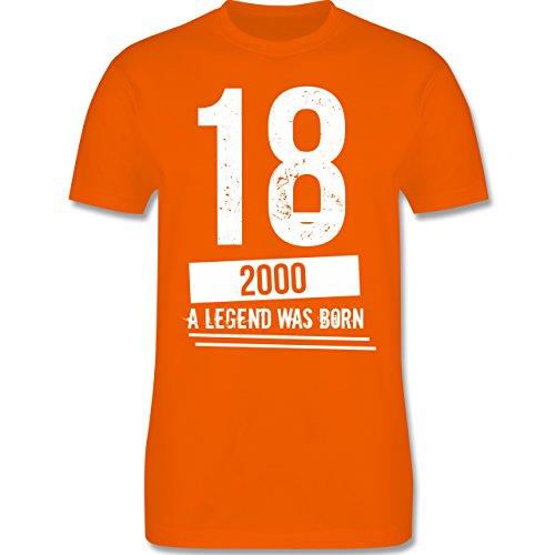 Shirtracer Geburtstag - 18 Geburtstag Jungs - Herren T-Shirt Rundhals Orange