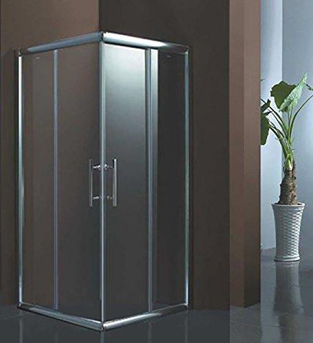 Luxus4Home Duschkabine 80 x 80 x 195 cm Eck Dusche Schiebetür Sicherheitsglas (ESG)