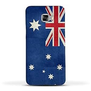 FUNKYLICIOUS Galaxy C7 Back Cover Flag of Australia vintage retro style Design (Multicolour)