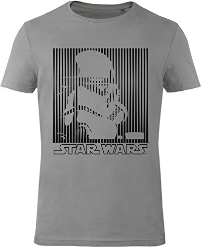 GOZOO Star Wars T-shirt Uomo Imperial Stormtrooper BOXED 100% Cotone, Stampa di Alta Qualitá Grigio XL