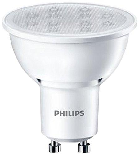 Philips Ampoule LED Spot Culot GU10 5W Consommés (Équivalent 50W Incandescent) 3000 Kelvin