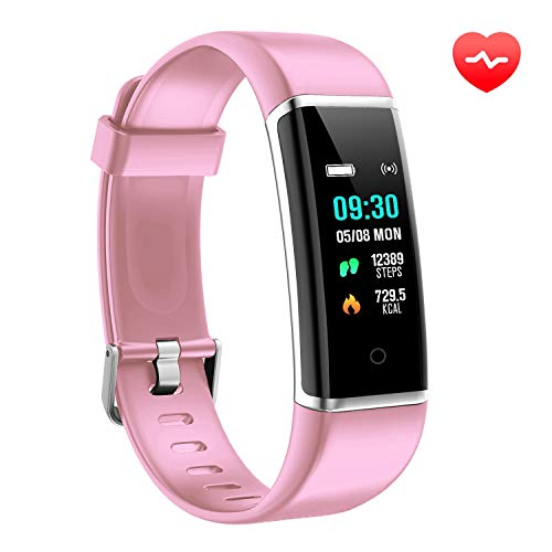 AUSUN Fitness Tracker, FT901HR Orologio Fitness Activity Tracker Cardio Impermeabile IP67 Smart Watch Cardiofrequenzimetro, Rosa