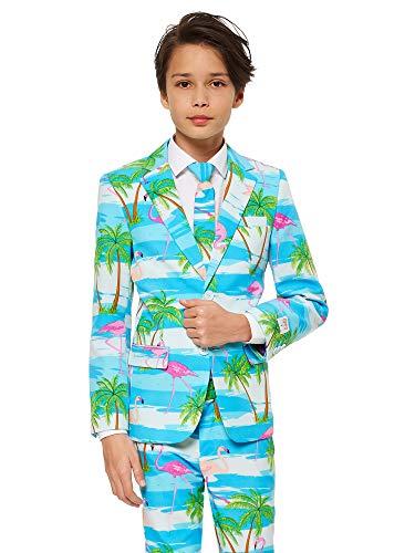 Opposuits Flaminguy Anzug für Jungens Besteht aus Sakko, Hose und Krawatte