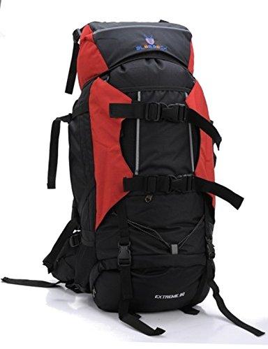 PROFI Outdoor Trekking Rucksack FX-8854 80 L XXL Wanderrucksack Reiserucksack (ROT)