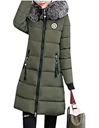 f3a34472bdd6 LOBTY Damen Wintermantel Warm Winterjacke Damen Mantel Steppmantel  Wintermantel Wollmantel Mantel Dicke Winterjacke…